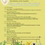 IX Franciszkańska Konferencja Zielarsko-Farmaceutyczna; 30 maja 2015 roku w Klasztorze Braci Mniejszych Franciszkanów w Katowicach-Panewnikach, ul. Panewnicka 76.